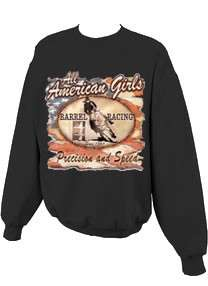 Precision and Speed Barrel Racing Cowgirl Sweatshirt