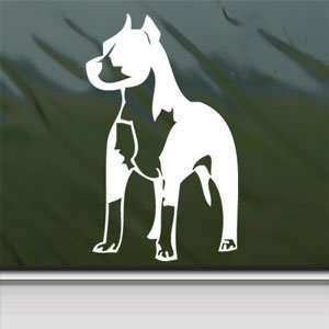 Pitbull Standing Bull Terrier Dog White Sticker Laptop