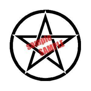STAR CIRCLE OUTLINE WHITE VINYL DECAL STICKER Everything