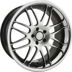 Concept One RS 8 19x8.5 Machined Black Wheel / Rim 5x112 with a 47mm