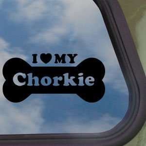 I Love My Chorkie Black Decal Car Truck Window Sticker