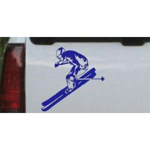 Skier Sports Car Window Wall Laptop Decal Sticker    Blue