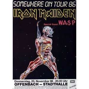 Iron Maiden   Somewhere 1986   CONCERT   POSTER from