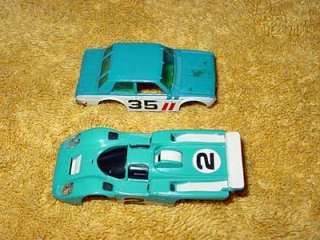VINTAGE ~ TYCO AFX AURORA ~ SLOT CAR RACING Lot ~ 1970s (18) CARS