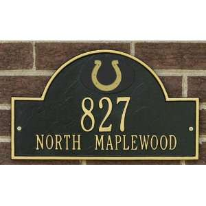 Indianapolis Colts Black and Gold Personalized Address