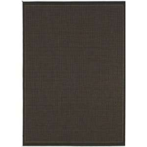Couristan Recife Saddle Stitch Black Cocoa   2 3 x 7 10