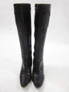 CALVIN KLEIN Black Leather Knee High Boots Sz 6