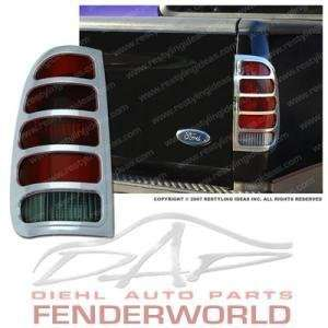 FORD F250 F350 SUPER DUTY 99 07 CHROME TAIL LIGHT COVER