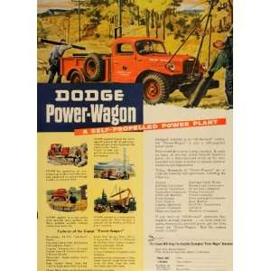 1947 Ad Red Dodge Power Wagon Truck Four Wheel Drive