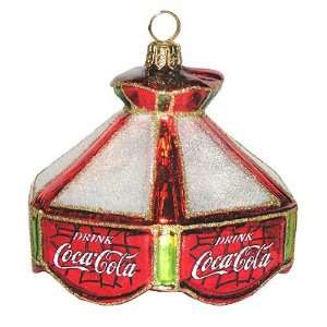Coca Cola Tiffany Lamp Polonaise Christmas Ornament AP1618