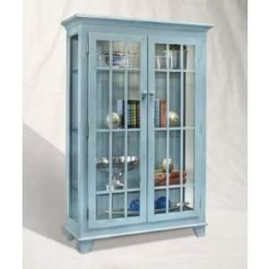 Color Time Monteray 2 Door Display Cabinet Blue  Kitchen
