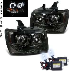 07 11 Tahoe Suburban Halo LED Smoke Projector Head Lights Automotive