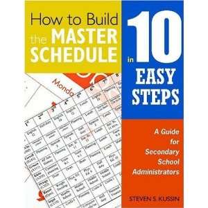 How to Build the Master Schedule in 10 Easy Steps A Guide