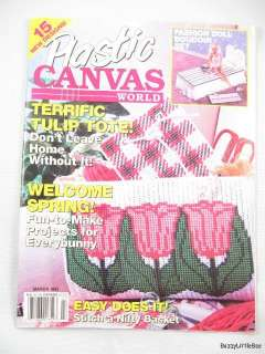 Plastic Canvas World Magazine March 1993 ~ Barbie Bedroom, Tulips