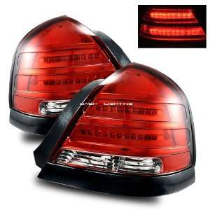 98 08 Ford Crown Victoria LED Tail Lights   Red Clear