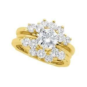 1 1/4 CT TW 14K Yellow Gold Diamond Ring Guard Jewelry
