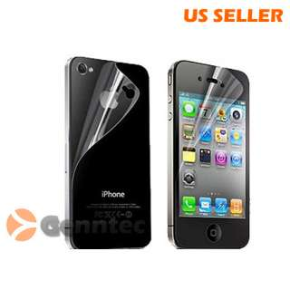 Anti Glare Screen Protector Full body for Apple iPhone 4 4G 4Gs Front