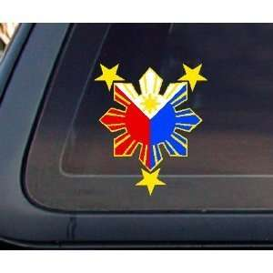 Philippine Flag Sun Car Decal Window Bumper Sticker