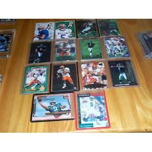 Donovan McNabb Rookie lot of 14 different cards 1999 football RC