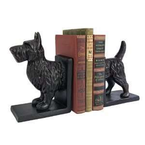 Iron Scottish Terrier Dog Cast Iron Sculpture Bookends