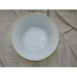 Fire King Clambroth Clam Broth Gold Trim Vegetable Bowl