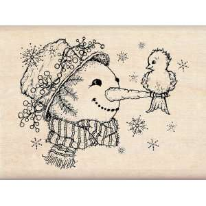 Christmas   Wood Mounted Stamps   Snow Friends Arts, Crafts & Sewing