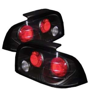 96 98 Ford Mustang Euro Tail Lights   JDM Black