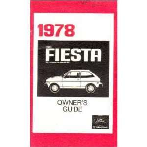 1978 FORD FIESTA Owners Manual User Guide Automotive