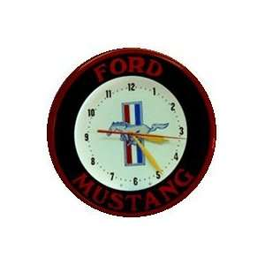 Ford Mustang Genuine Neon Wall Clock 20 Made In USA New