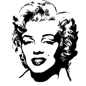 Marilyn Monroe Silhouette Style #2 Vinyl Wall Art Decal