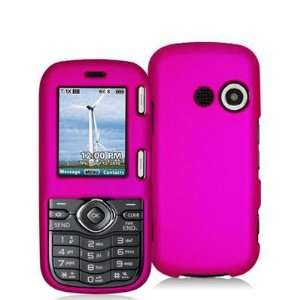 Hot Pink Rubberized Snap On Hard Skin Case Cover for LG