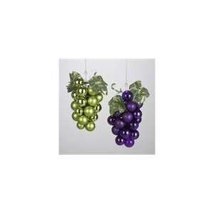 Pack of 6 Tuscan Winery Purple & Green Glass Grape