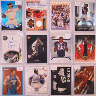 Huge 800+ Auto Jersey Ref/Xfrac RC Ser #ed Card Lot Gasol Auto #01/10