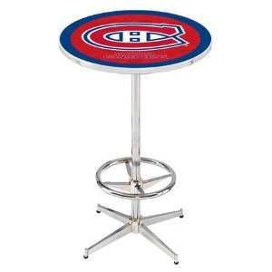 36 Montreal Canadiens Counter Height Pub Table   Chrome Base with