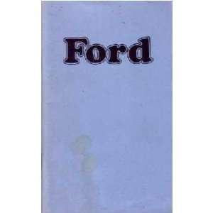 1974 FORD GALAXIE Owners Manual User Guide Automotive
