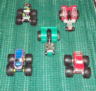 Galoob, Micro Machines (3) Monster Trucks and (2) Pull Tractors