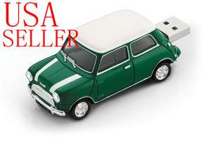 GB Green Mini Cooper Car USB flash pen drive memory stick sport