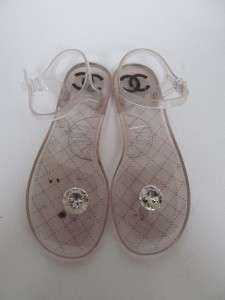 Chanel Clear Jelly Flip Flop/Sandals/Shoes Sz.39