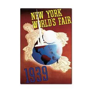 Worlds Fair Vintage Advertising Art Fridge Magnet