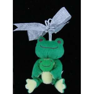 Japanese Sanrio Mascot Plush Ornament Green Frog and Baby Frog