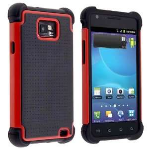 Black / Red Hybrid Armor Case With Free Reusable Screen