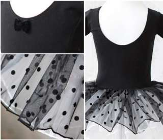 Leotard Ballet Tutu Costume Dance Skirt Dress 2 7Y 2color