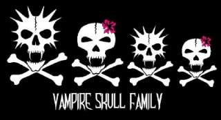 Vampire Skull Family Decal Sticker Custom Personalized