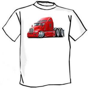 Kenworth 660 Semi Truck Cartoon Tshirt NEW
