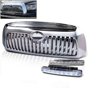 2009 Toyota Tundra Truck 1pc Front Grille Grill + 8 Led Bumper Lights