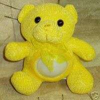 Yellow Teddy Bear Kozy Lights Plush Night Light NEW
