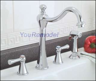 CHROME KITCHEN Sink FAUCET 2 HANDLES PREMIER HIGH SPOUT