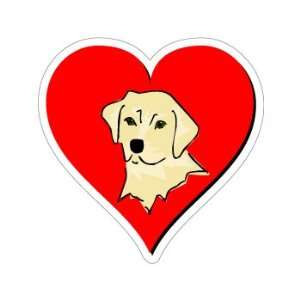 Labrador Retriever Love   Window Bumper Sticker