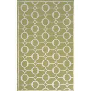 Indoor/Outdoor Hand Tufted Area Rug Arabesque 8 Square Sage Carpet