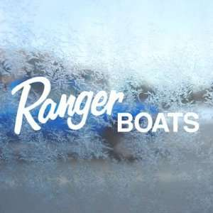 RANGER BOATS White Decal Car Laptop Window Vinyl White